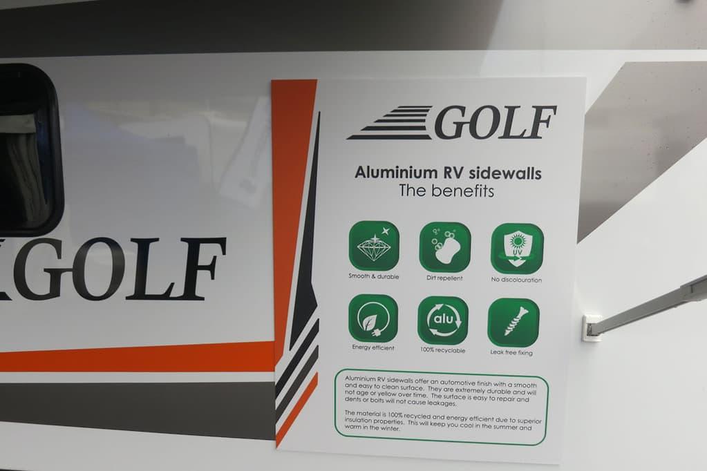 Golf Aluminium RV side walls