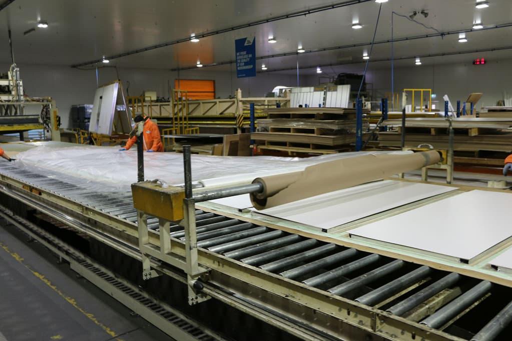 Composite panels for caravan manufacturing