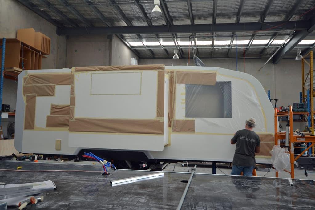Composite materials for caravans